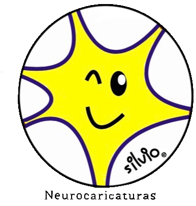 Neuron in Yellow Neurocaricaturas Silvio